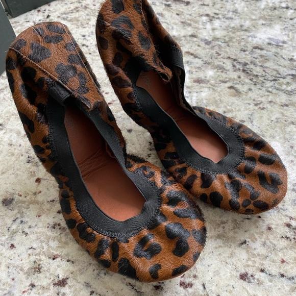 NIB Yosi Samra Foldable Ballet Flats Leopard